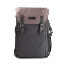 Grande capacité toile étanche w couverture de pluie photographie caméra sac à dos Fit 15.6in ordinateur portable trépied casual voyage
