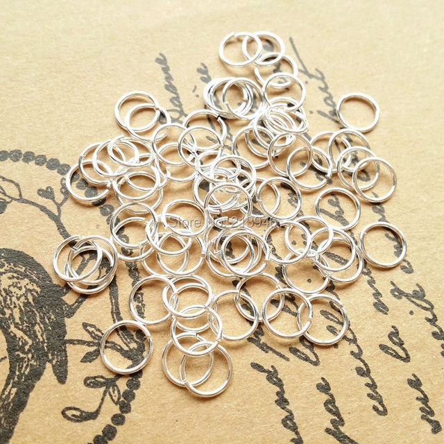 "6.0MM (5g=95pcs)/ Pack  "" Fake One Penalty Ten "" 925 Sterling Silver Jump Rings & Split Rings ( can open ) Jewelry Findings"