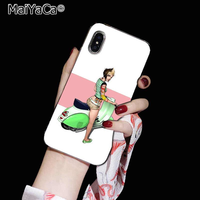 MaiYaCa ベスパスクーターソフトシリコン TPU 電話ケースカバー iphone 5 5S 6S 6 プラス 7 7 プラス 8 8 プラス X Xs 最大 XR