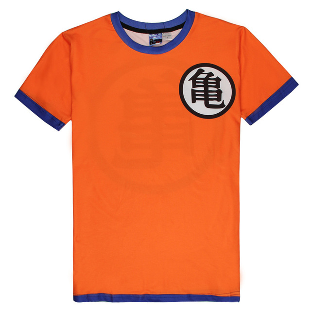 2016 Clássico Camisetas Tees T Camisa Dos Desenhos Animados Dragon Ball Goku Traje Kung Fu Dos Homens Das Mulheres de Manga Curta Casuais Verão Encabeça