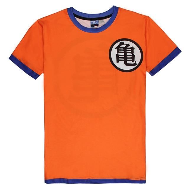 2016 Classic Cartoon Dragon Ball T-shirts Tees T Shirt Casual Goku Kung Fu Costume Short Sleeve Women Men Summer Tops