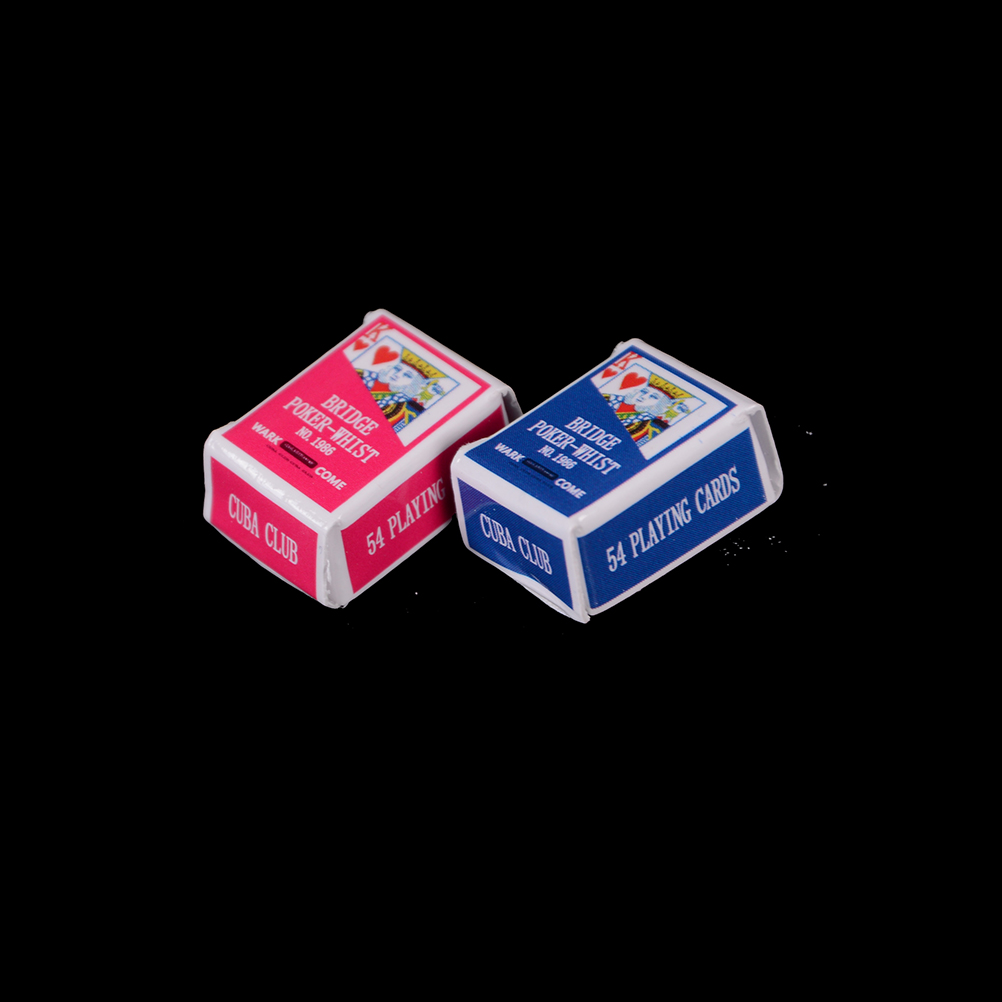 1Set Mini Cute 1:12 Dollhouse Miniatures Poker Poker Cards Playing Game For   Doll Accessories