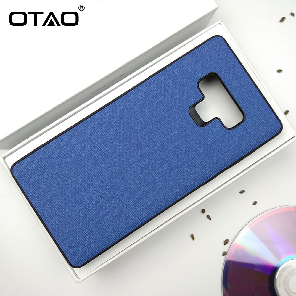 huge discount 245c5 d4496 US $2.33 26% OFF OTAO Newest Heat Dissipation Cloth Fabric Phone Case For  Samsung Galaxy S9 S8 Plus Note 9 8 Cases Plain Stripe Patterned Cover -in  ...