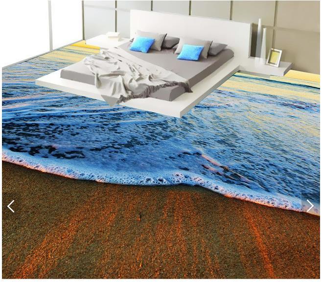 ФОТО 3d wallpaper custom 3d flooring painting wallpaper waves of the sea scenery 3d floor wall paper 3d living room photo wallpaper
