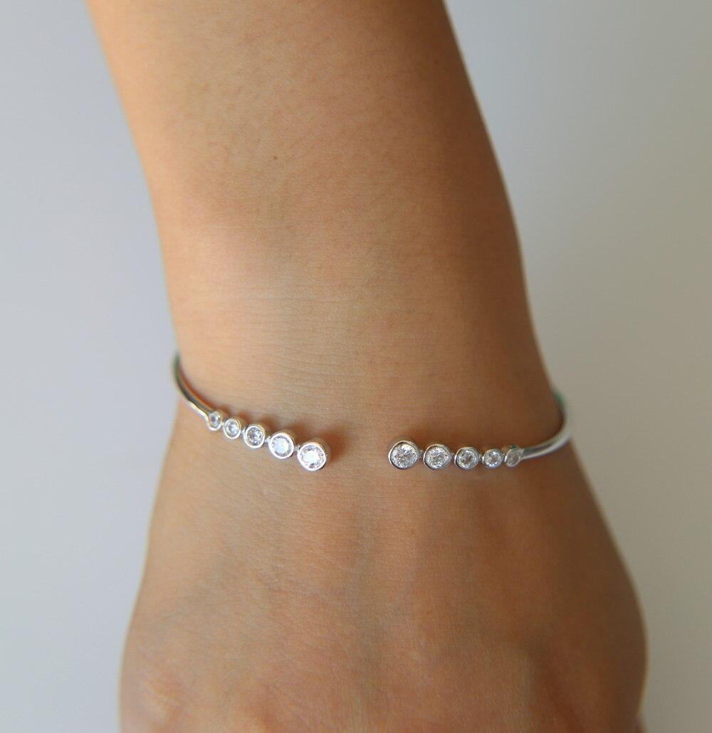 Cuff Bracelet Silver Color...