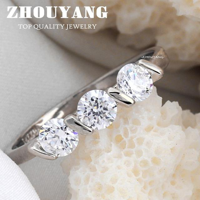 Top Quality Concise Crystal Ring Rose Gold Color Austrian Crystals Full Sizes Wholesale R067 R068 4