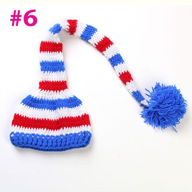 Bebé recién nacido sombrero Pixie Elf Navidad gorros Cap ganchillo ...