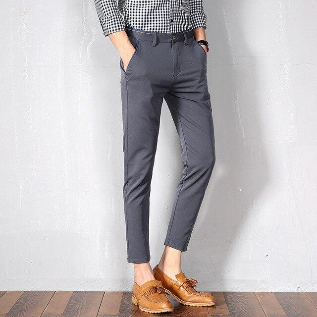1c5b39dd998ad Social Masculina Dress Slim Fit Formal Pantalon hombre Vestir Office men  Summer Spring Xadrez Loose Skinny Korean Pants Trousers