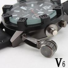 V6 Marque De Luxe Hommes Sport Militaire Montres Mode Casual Montre À Quartz noir étanche Horloge Hommes Montre-Bracelet Relogio Masculino