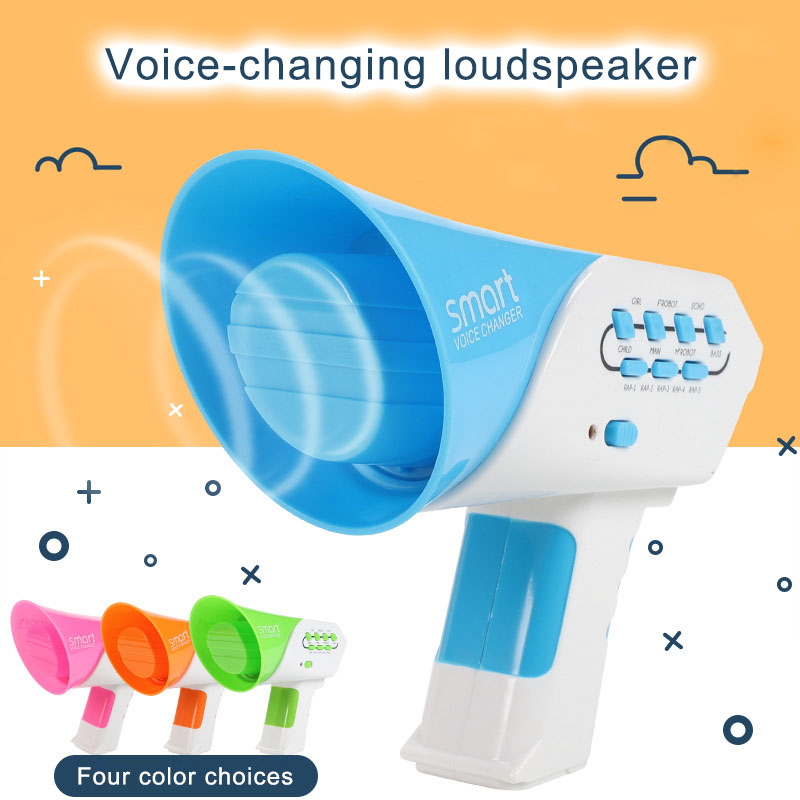 Mini Horn Funny Kids Loudspeaker Toy Voice-changing Intercom Electronic Toys with 7 Different Voice Education for Children NSV77