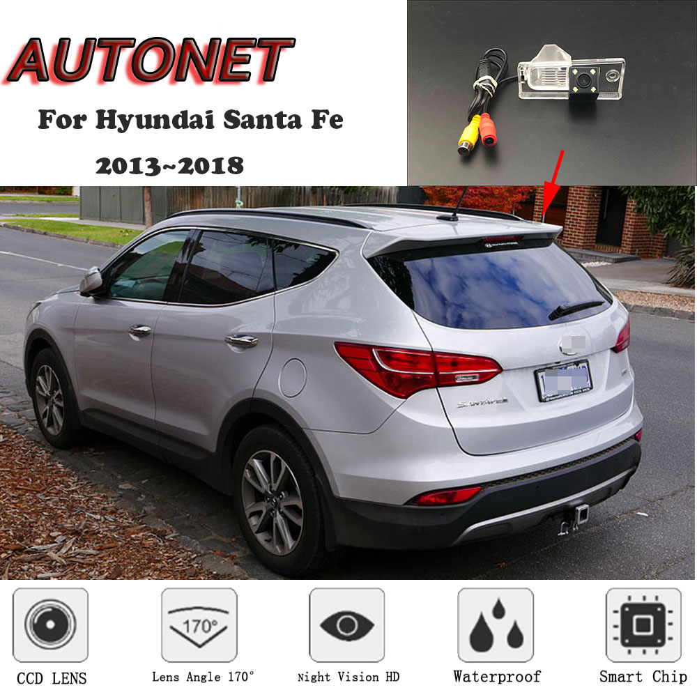 AUTONET HD Night Vision Backup Rear View Camera For Hyundai Santa Fe 2013~2018 CCD/license Plate Camera Or Bracket