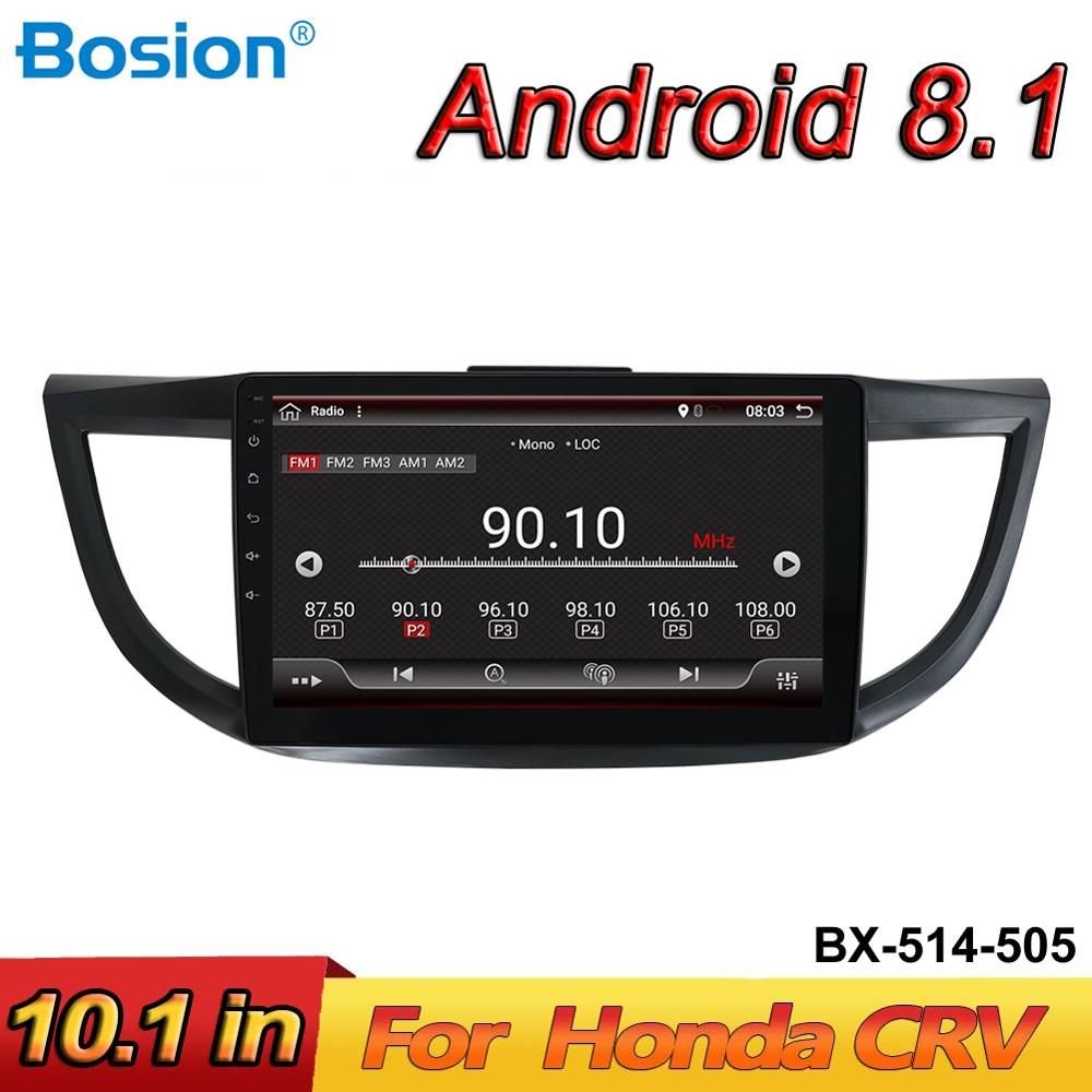 Bosion Android 8.1 Radio <font><b>Multimedia</b></font> Player Car DVD GPS Navigation For <font><b>HONDA</b></font> <font><b>CRV</b></font> 2012-2015 Autoradio WIFI with free camera image