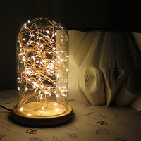 Modern Lamp Edison Desk Lamp Glass Cover Wood Base Personality Decoration Bedside Light For Bedroom Table