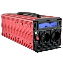 Nominal 3000 W de Pico 6000 W fuera de la red inversor del LCD 12 V 220 V de onda sinusoidal modificada inversor de la energía para acampar, escuela, casa