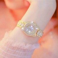 BS Top Brand 27mm Full Diamond Dial Women Watches Luxury Ladies Watch Girl Fashion Quartz Gold Filled Watch Zegarek Damski