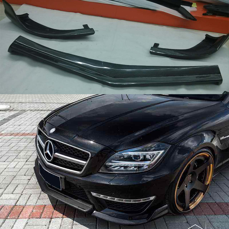 Discount Mercedes Parts >> For Mercedes Benz CLS Class W218 CLS350 CLS63 AMG Bumper Carbon Fiber front lip spoiler-in ...