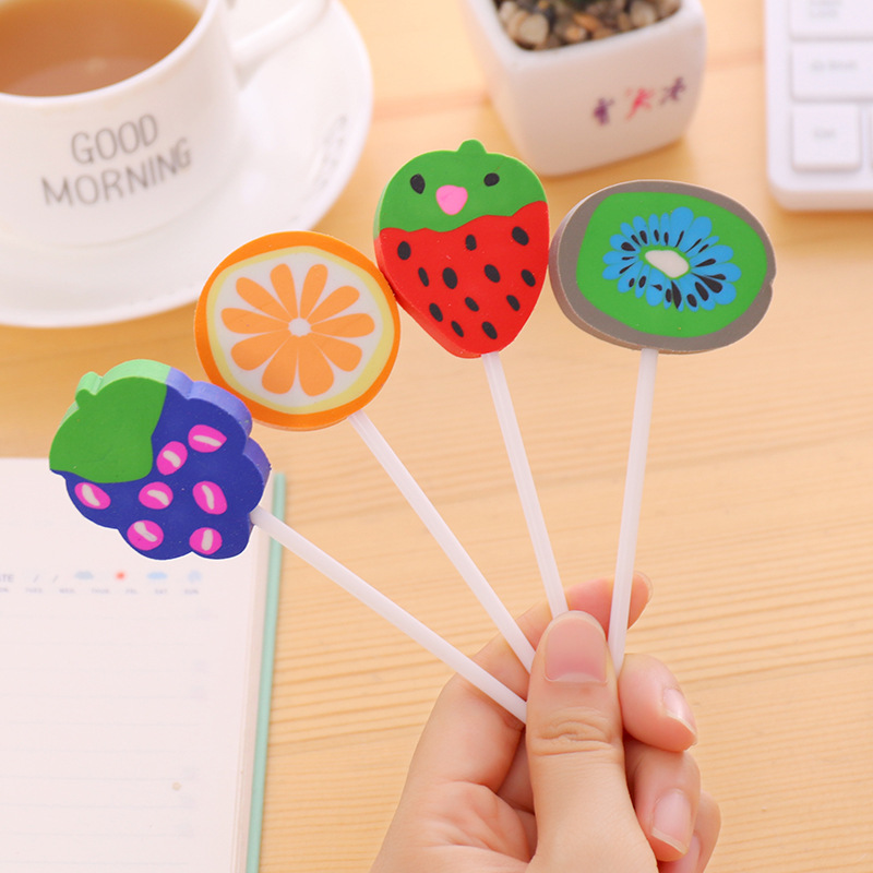 4pcs Novelty Kawaii Fruit Drawing Eraser Artist Pencil Rubber School Office Supplies Student Stationery Kids Party Creative Gift