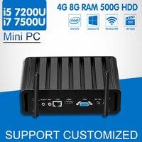 Intel Core I7 7500U Mini PC 7th Gen I5 7200U Mini Office Computer Windows 10 Ubuntu