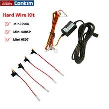 Conkim Универсальный Micro USB жесткий Провода комплект с 4 Копилка Вернуться предохранитель F12V до 5 В Адаптеры питания кабель для автомобиля камера Mini 0906 0903