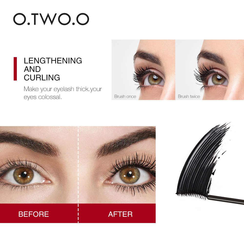O.TWO.O 3D 絹繊維まつげ黒マスカラ防水長期的なラッシュ厚いマスカラロングまつげメイクアップマスカラ