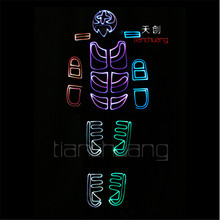 TC 126 RGB clothes Full color LED colorful light robot costumes mens party dj wear Programe