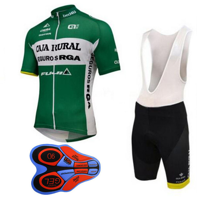 2018 Green TEAM Cycling Jersey Set 9d Gel Bike Short Sets Ropa Ciclismo  Mens Summer Quick-dry Pro Bicycling Maillot Culotte b2db5d430
