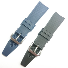 MERJUST Brand 22mm Rubber Silicone Watchband Black Blue Watch Strap For IWC PILOT PORTUGIESER IW323101 часы iwc pilot