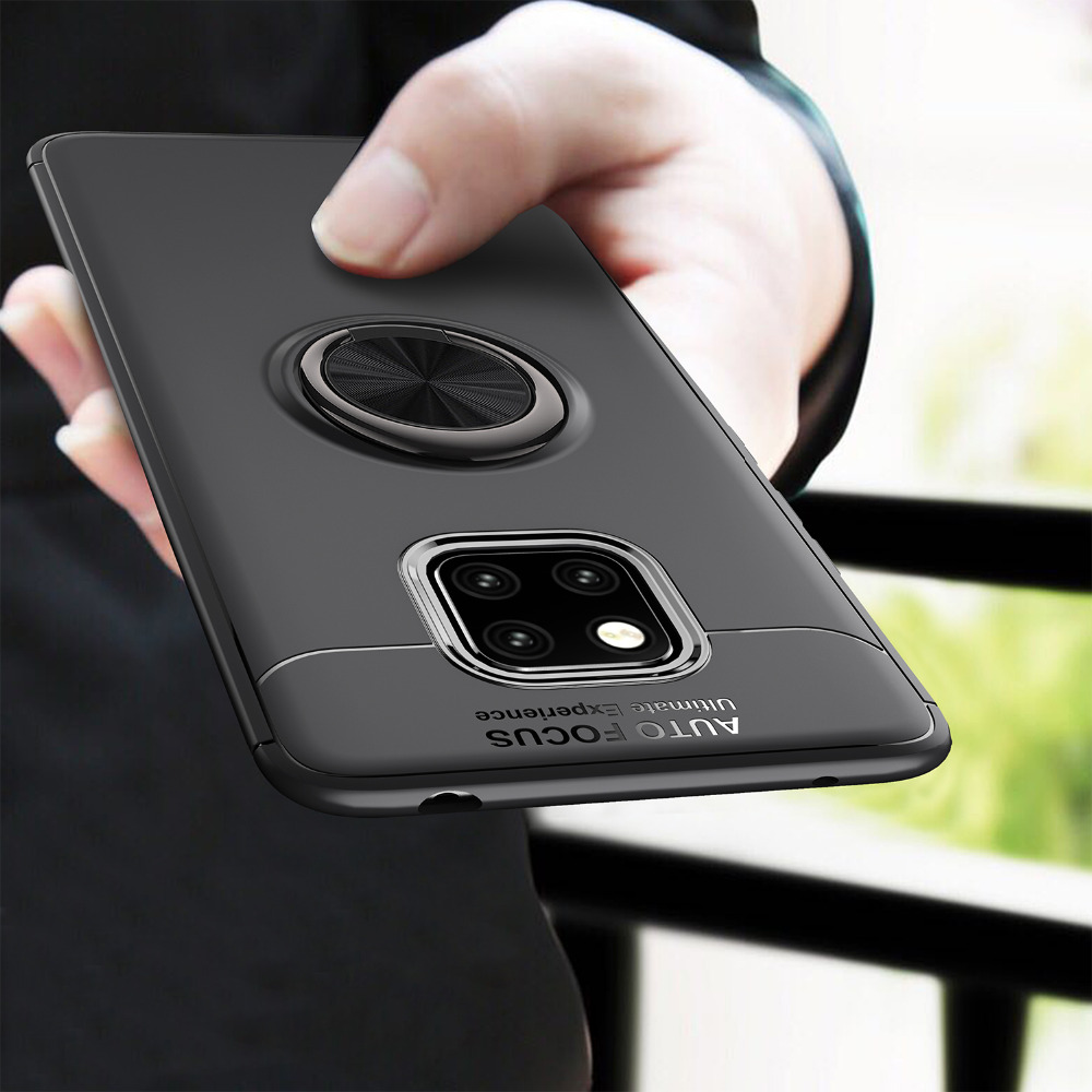 For Huawei Mate 20 Lite 20X Case Luxury Soft TPU With Car Stand Ring Shockproof Protective Cover cases for huawei mate 20 pro in Fitted Cases from Cellphones Telecommunications
