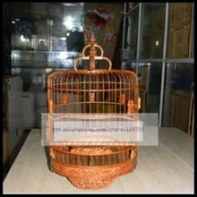 24cm diameter selection of old bamboo handmade fine carved bird cage [squirrel grape]