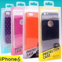 KJ-298 50 adet Toptan kristal Kutusu Temizle Şeffaf PC Plastik Ambalaj Kutusu iPhone6s için Perakende Paket Kutusu size172 * 78*18mm