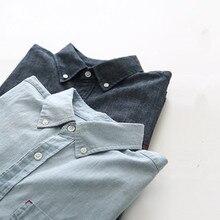 цены на Spring Male 100% Cotton Shirt Male Cotton Denim Shirt Male Basic Long-sleeve Casual Shirt  в интернет-магазинах