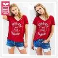 HYD Exportación 2017 Impresión de La Manera ncaa1976 CAMPEÓN Rojo V-cuello corto manga camiseta de las mujeres ladys tapas de las tes de Verano