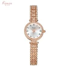 2016 KIMIO Manera de Las Mujeres Relojes de Lujo de Cristal Pulsera de Acero Inoxidable Reloj de Pulsera Señoras Reloj de Cuarzo Relogio Feminino Reloj