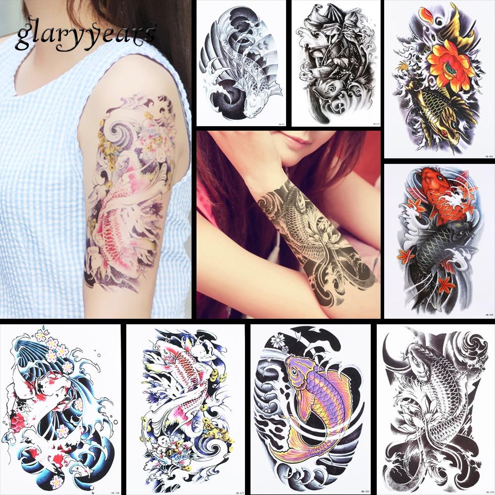13160451fbce 8 unidades diseño de patrón de pez tatuaje temporal pegatina Catfish ...