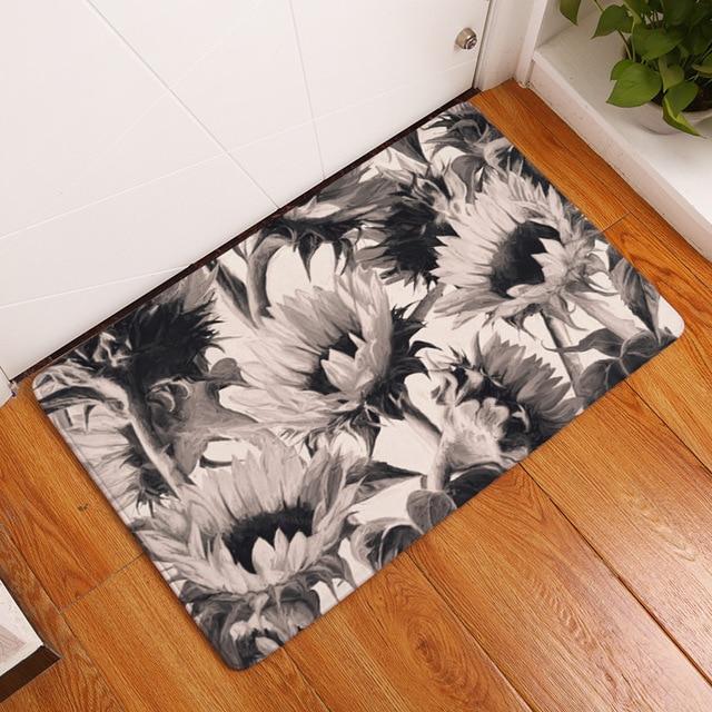 Bagno zerbino fiore stampato zerbino 50x80 cm wc tappeto assorbente doccia bagno zerbino tappeti all'aperto tappetini cucina zerbino zerbino all'ingrosso