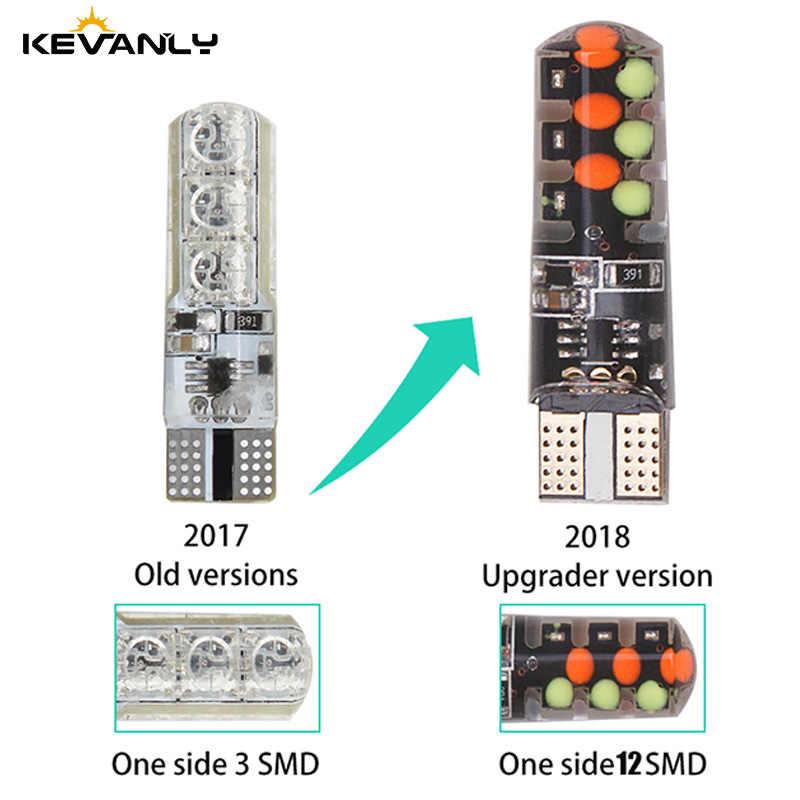 RGB LED T10 W5W LED 194 168 W5W 5050 SMD Mobil Dome Membaca Lampu Mobil Baji Lampu RGB LED dengan Remote Controller 12 V