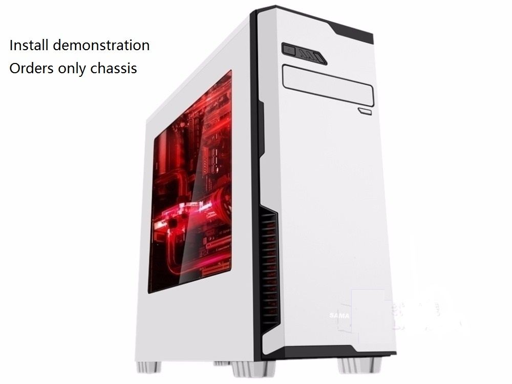 Computer case Games Desktop ATX side through Chassis usb3.0 black or white Chassis found the chassis computer desktop chassis game chassis water cooling large tower chassis