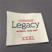Custom 5.4*6cm High Density Brand Woven Label Garment