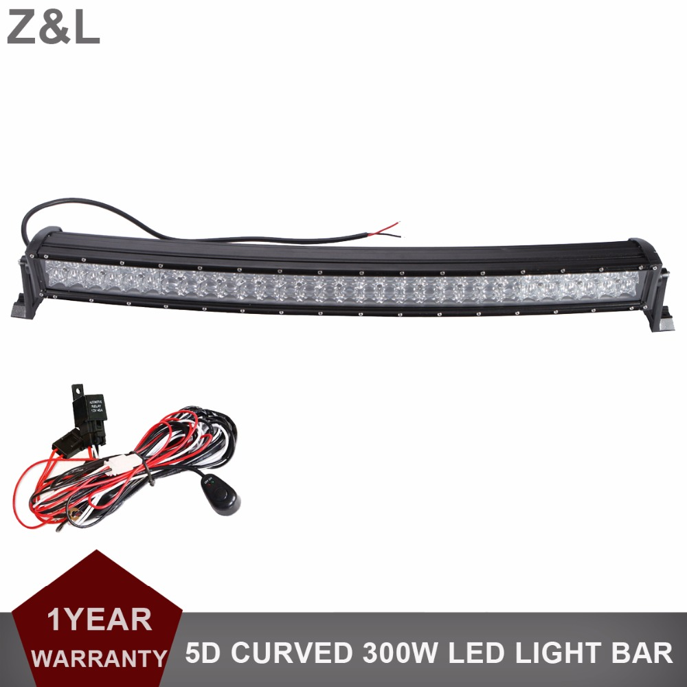 цена на 33 Inch 300W Offroad Curved LED Light Bar Combo 12V 24V Car Truck Auto ATV Pickup 4WD 4X4 Trailer Wagon SUV Trailer Driving Lamp
