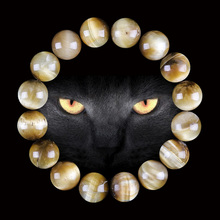 Lingxiang 6/8/10/12mm Golden Tiger Eye Beaded Bracelets & Bangles Trendy Natural Stone Bracelet For Women Lucky Men Jewelry