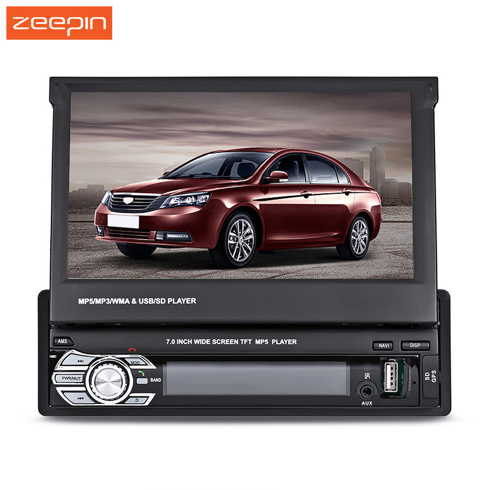 Zeepin 9601G Universal 7.0 inch DC 12V Wince System TFT LCD Screen MP5 Car Multimedia Player with Bluetooth FM Radio