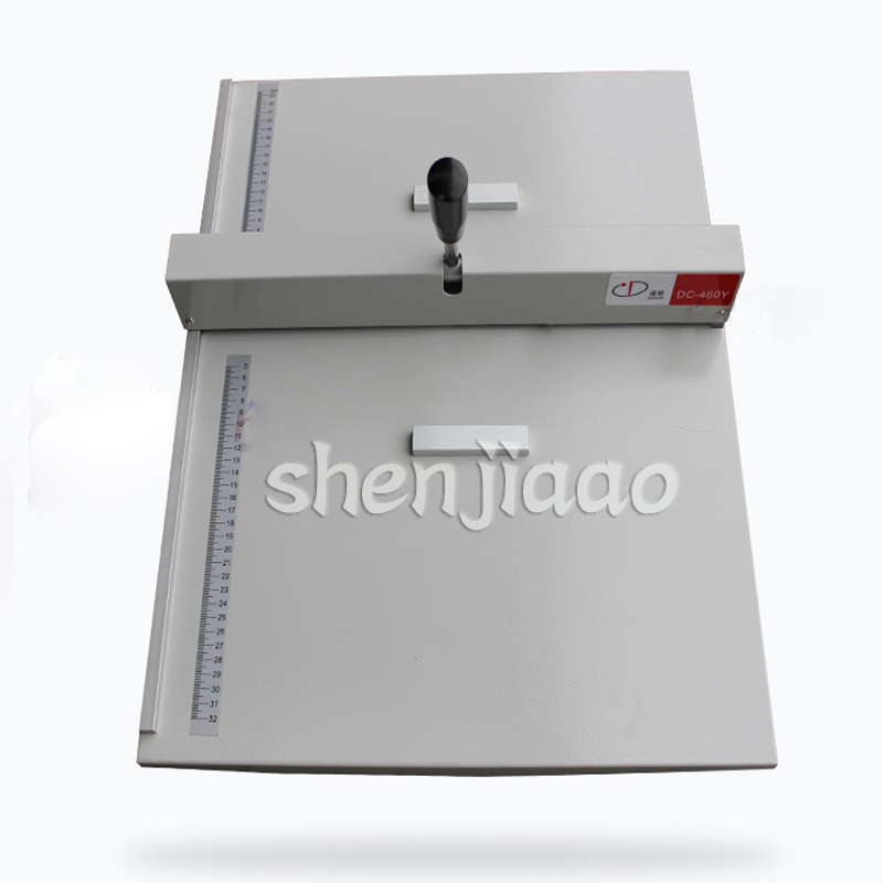 Manual folding machine A3 paper creaser and perforator for Name card,photos Paper Creasing machine 460 model yh450 heavy duty paper creaser manual creasing 455mm photo paper machine manual scoring machine manual indentation machine