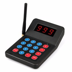 999 Channel Keypad Transmitter 433.92MHz For Wireless Paging System Electronic Queue Management System Customer Service