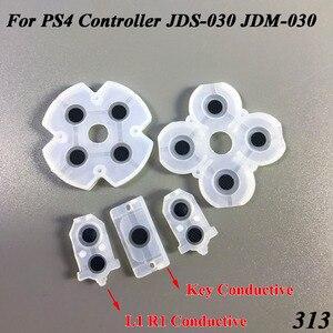 Image 1 - 100 ensemble/lot en caoutchouc souple JDS 030 JDM 030 Silicone adhésif conducteur L1 R1 boutons Pad claviers pour contrôleur PS4