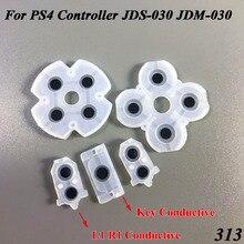 100 juego/lote de goma suave JDS 030 JDM 030 de silicona conductiva adhesiva L1 R1 botones de teclados para PS4 controlador