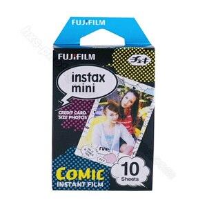 Image 2 - Oryginalne 10 arkuszy komiks Instax Fujifilm papier fotograficzny do Fuji Instant Mnini 9 8 50s 7s 90 25 aparaty akcji SP 1 SP 2 SP 3 drukarki