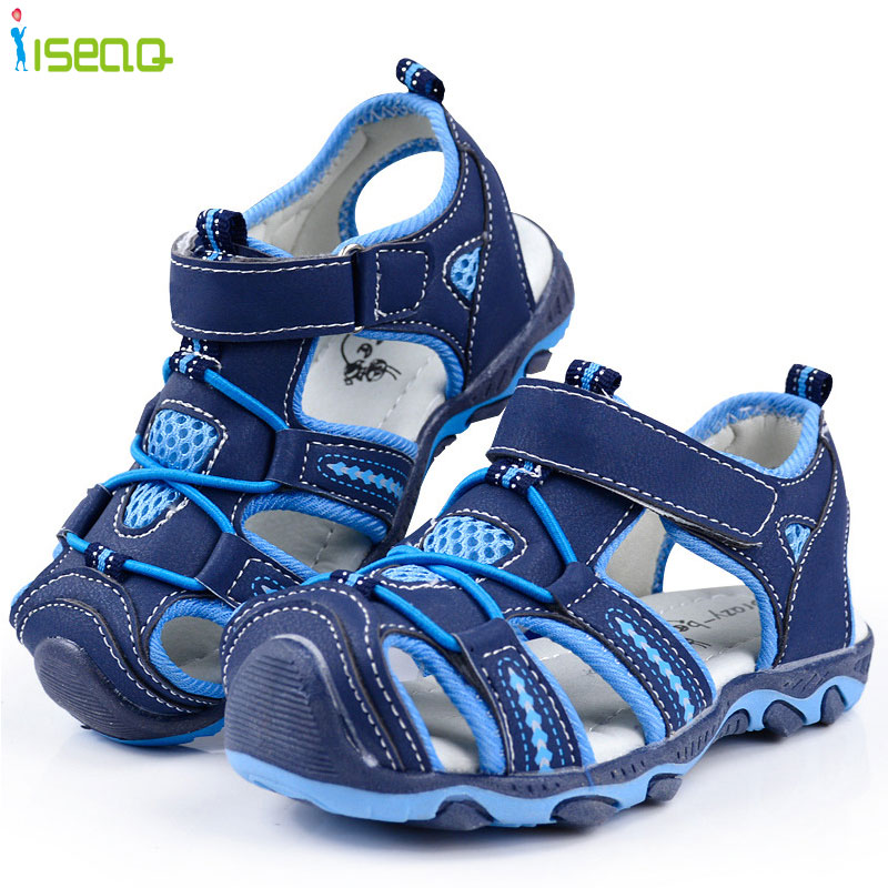 Anak laki-laki sandal, Musim panas gaya baru sepatu anak-anak, Anak laki-laki busana cut out sandal, Anak-anak kanvas, Sandal ...