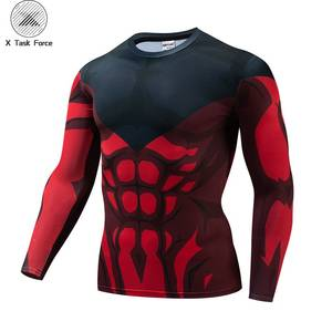 Dragon Ball Z t shirt Anime Cosplay T Shirt Men Compression Tight Shirt Corssfit Clothing Goku Tops Elastic Costume X Task Force