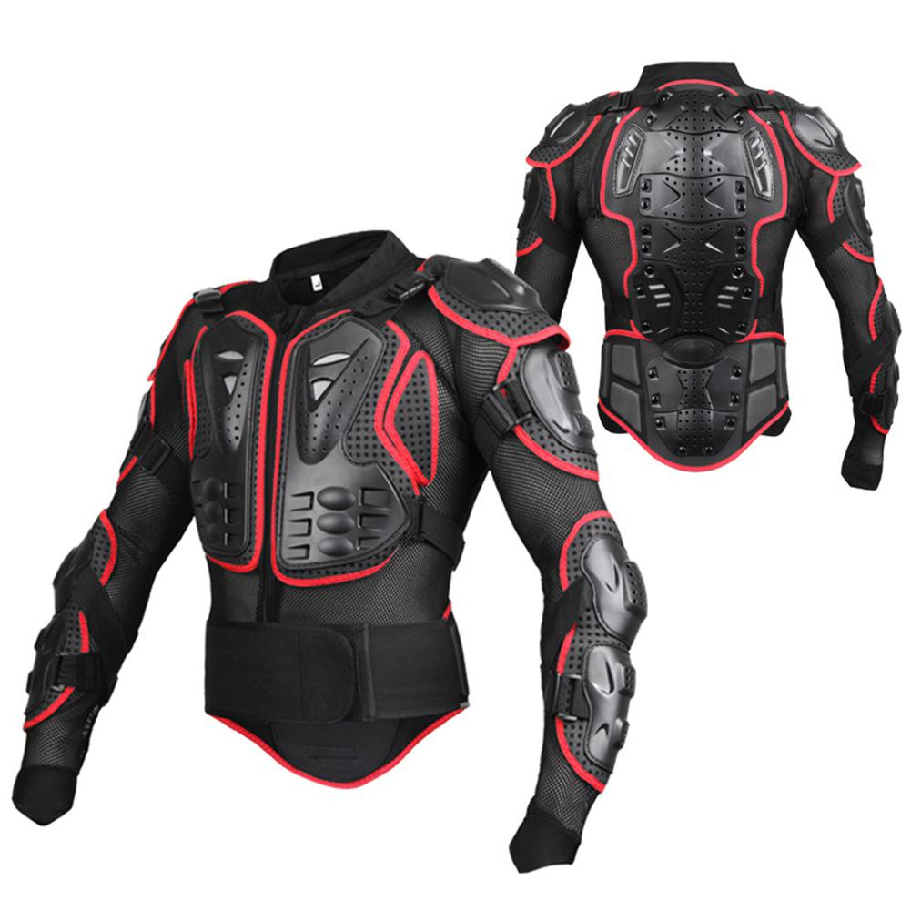 LumiParty Men Motorbike cycling Jacket Racing Protective Mesh Jacket Armor Full Body Spine Chest Shoulder Arm Protector Gear