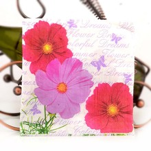 20pcs lovely daisy theme napkin 33*33cm 2-ply napkin paper for decoupage, fire balloon napkins decoupage serviettes цена и фото